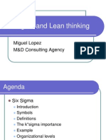 Six Sigma and Lean Thinking