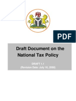 National Tax Policy Draft Updated)