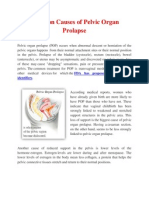 Common Causes of Pelvic Organ Prolapse