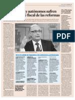 Autonomos y Profesionales Mas Afectados Por Reforma