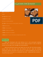 Gluten and Lactose Free Brownie