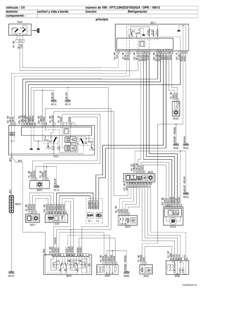 esquema electrico citroen c4