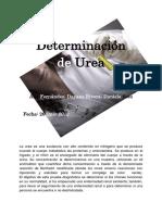 Determinación de Urea