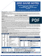 Bluefield Blue Jays Game Notes 7-20