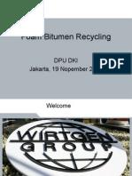 5. Foam Bitumen Recycling