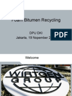 5. Foam Bitumen Recycling