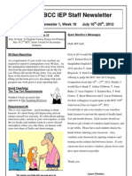 BCC IEP Staff Newsletter Week 10 Sem 1