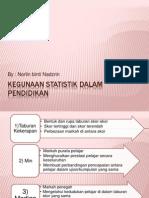 Kegunaan Statistik Dalam Pendidikan