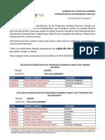 """RELACIÓN DE BENEFICIADOS DEL PROGRAMA GUERRERO CUMPLE CON """"MADRES SOLTERAS"""" MUNICIPIO TIXTLA DE GUERRERO"""