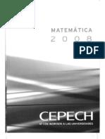 Matemática CEPECH 2008 LIBRO