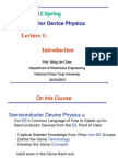 Lecture 1 - 4521semiconductor Device Physics Course Outline-2012 Spring
