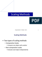 8. Scaling Methods (Ch 9)