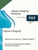 Signal Integrity Seminar