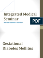 Integrated Medical Seminar Diabetes Mellitus
