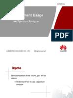 RF Equipment Usage í¬ Spectrum Analyzer