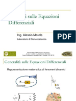Richiami Equazioni Differenziali