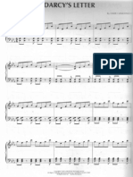 Pride And Prejudice Darcy's letter Piano Score
