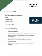 Questions Level 3 Series 2 Lcci (New Syllabus) Ias Code 3902