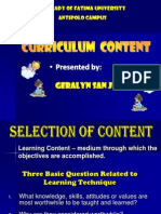 Geralyn Presentation Selection of Content