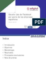 Adigital Estudio Uso Facebook Empresas EnEspana 2011