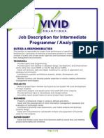 Intermediate Programmer Analyst