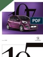 Peugeot 107 Brochure