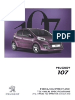 Peugeot 107 Prices and Specifications Brochure