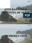 Antibacterial Pty. of Neem