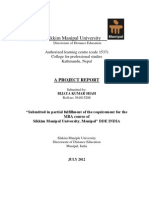 Project Report on Job Analysis and Design