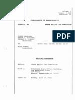 Romney - Ballot Commission Testimony Transcript