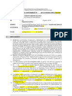 Informe Del Supervisor Sobre CONFORMIDAD Exp.tecnico