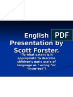 English Presentation by Scott Forster