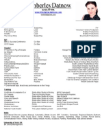 Actors Resume 2012 (1)