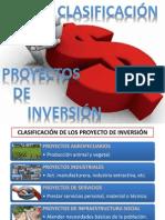 2) Clasificación de los proyectos de inversión
