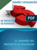 4) Tamaño y Localización de proyectos de inversión