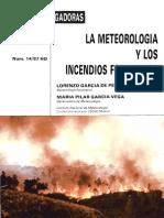 Meteorología y los incendios forestales