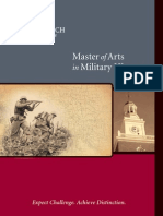 (2007) Master of Arts in Military History  (Brochure)