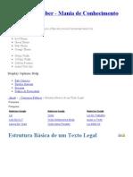 Estrutura Básica de um Texto Legal _ Artigo, Parágrafo, Inciso, Alíneas, Desdobramento _ ___ Fonte Do Saber - Mania de Conhecimento ___