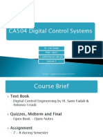 Lecture 1 - Intro to Digital Control