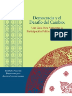 Democracia y el Desafio Del Cambio