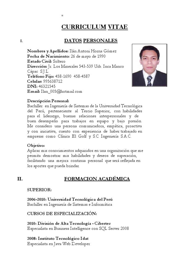 Contemporáneo Curriculum Vitae Del Especialista Patrón - Colección ...
