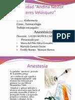 Exposicion de Anestesicos