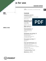 Maquina Lavar e Secar Roupa INDESIT IWDC6105