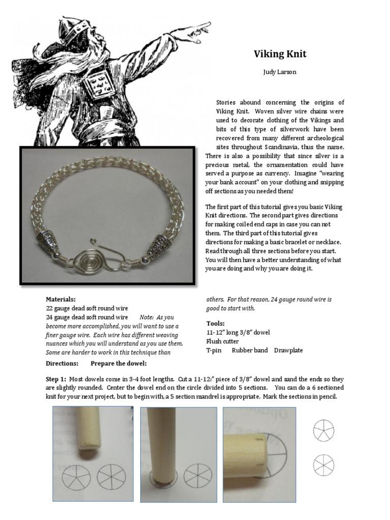 Beautiful Viking Knit Bracelet Pattern Model - Blanket Knitting ...