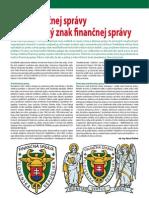 Znak finančnej správy a Slávnostný znak finančnej správy (Colné aktuality č. 3 - 4/2012)