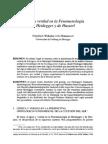 Lógica y verdad en la fenomonología de Husserl