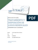 TRATAMIENTO Y DISPOSICIÓN DE LODOS RESIDUALES