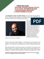 Press Release - Compagnie de Danse Jean-René Delsoin - USA TOUR