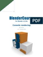 Blender Course - Console Rendering en - V1.2