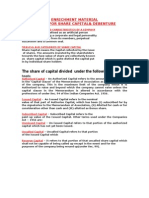 Accounting for Share Capital& Debenture